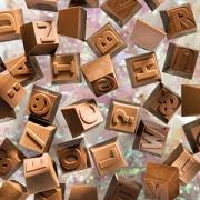 Форма для шоколада «Буквы и цифры 1часть» [24шт]; поликарбонат; H=18,L=26,B=26см