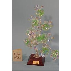Бонсай с хризантемой зеленый, 24 см.