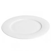 Тарелка мелкая «Амбра» [3шт], фарфор, D=26см, белый