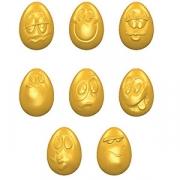 Форма для шоколада «Яйцо-смайлик» [12шт] H=11, L=32, B=22мм