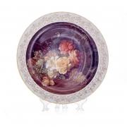 Настенная тарелка 32 см «Цветы 9»