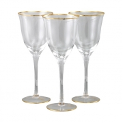 Бокал для вина 6 шт Сабина - золото