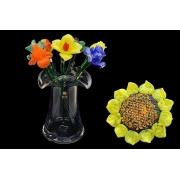 Цветок стеклянный подсолнух