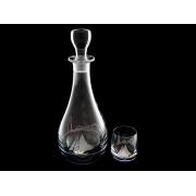 Набор для ликера (графин+6 стаканов) Кораблик