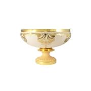 Ваза декоративная на ножке диам Topazio Cream Gold