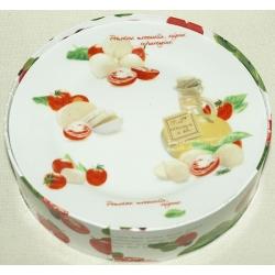 Набор из 4-х тарелок «Помидоры и моцарелла» 19 см