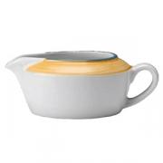 Соусник «Рио Еллоу»; фарфор; 130мл; белый,желт.