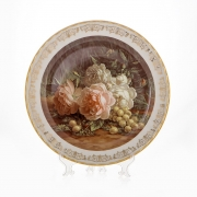 Настенная тарелка 32 см «Цветы 10»