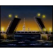 Дворцовый мост, 40х50 см, 1719 кристаллов