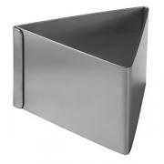Форма конд. «Треугольник», сталь нерж., H=45,L=63мм, металлич.