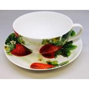 Чайная пара «Клубника» 350мл