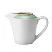 Молочник «Рио Грин»; фарфор; 142мл; белый,зелен.
