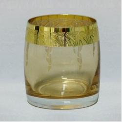 Набор стаканов 1/6 «Идеал» 290 мл; виски; панто золото «Nefertiti»; светлый амбер