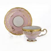 Набор для чая 210мл. «Ювел розовый « на 6перс.12пред. подарочный