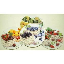 Набор из 4-х десертных тарелок «Фруктовое ассорти» 20 см