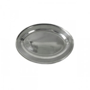 Блюдо овальное «Проотель», сталь нерж., H=20,L=350,B=235мм, металлич.
