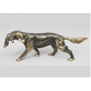 Собака-сеттер с уткой блест. каштан 11х32 см.