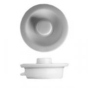 Крышка для кофейника «Прага», фарфор, 250мл, D=6,H=3см, белый
