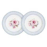 Набор из 2-х закусочных тарелок Розовый блюз
