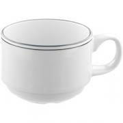 Чашка кофейная «Лагуна» D=8, H=5.8, L=10.4см; белый, зелен.