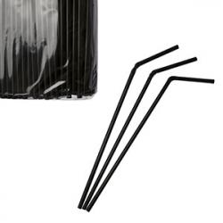 Трубочки со сгибом L=24cм [1000шт], D=5,H=350,L=330,B=110мм, черный