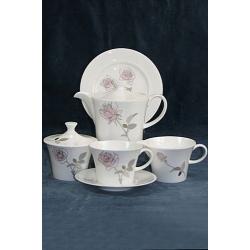 Сервиз чайный (розы с платиной), 23предмета