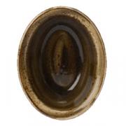 Блюдо для запек.овал. «Крафт»; фарфор; 370мл; L=15.7см; коричнев.