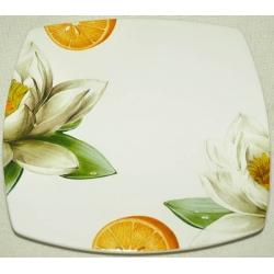 Десертная тарелка «Апельсины и кувшинки» 21 см