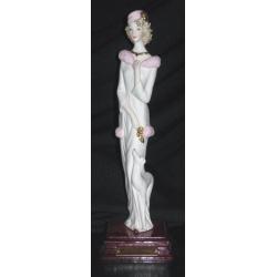 23506 статуэтка «Дама с собачкой» 28см