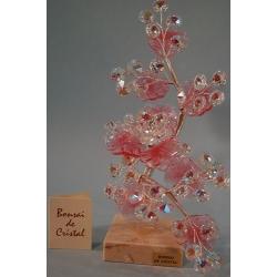 Бонсай с хризантемой розовый 21 см