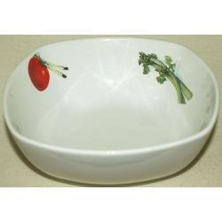 Квадратный салатник «Овощи» 21х21 см