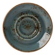 Блюдце «Крафт»; фарфор; D=14.5см; синий