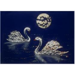 Лебеди, 50х70 см,3345 кристаллов