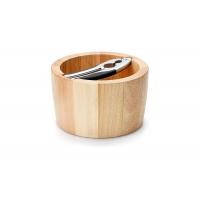 Миска для орехов с щипцами Continenta, каучуковое дерево