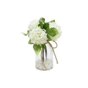 Декор.цветы Гортензии белые в стекл.вазе
