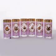 Набор стаканов 6 шт. 300 мл. «Охота розовая»