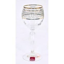 Набор из 6 бокалов для вина «Золотое кружево» 200 мл