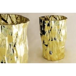 Ваза для цветов 25 см «Moss Gold»