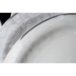 Сервиз столовый на 6 персон, 27 предметов. «Серебрянная вышивка»
