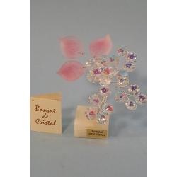 Бонсай с хризантемой розовый, 15см.