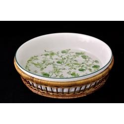 Блюдо круглое в корзине «Верде» 28 см