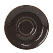 Блюдце «Крафт», фарфор, D=143,H=15мм, серый