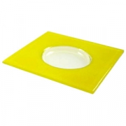Тарелка «Хэло» 24*24см желтая