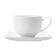 Чашка с квадратным блюдцем Даймонд