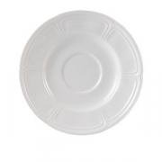 Блюдце «Торино вайт», фарфор, D=11см, белый