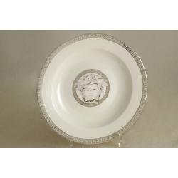 Набор из 6 суповых тарелок 23 см «Versace - platinum»