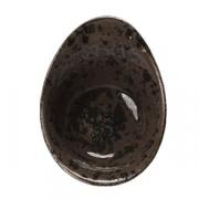 Салатник «Крафт», фарфор, 135мл, H=55,L=130,B=95мм, серый