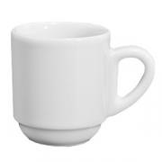 Чашка кофейная «Бистро», фарфор, 80мл, белый