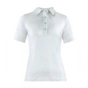 Рубашка поло женская,размер M, хлопок,эластан, белый
