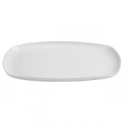 Блюдо овальное «Сплендор», фарфор, H=18,L=360,B=240мм, белый